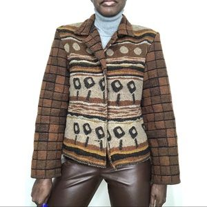 VINTAGE | Southwestern Aztec Blanket Jacket